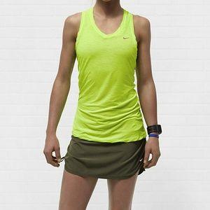 Nike DriFit Touch Run Breeze Stripe Neon Tank M